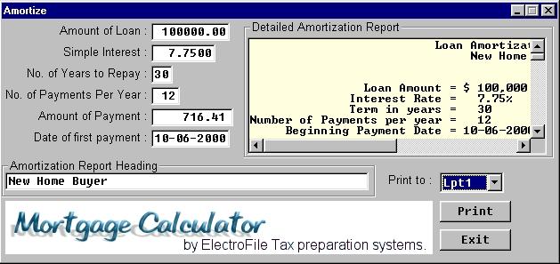 amortazation program
